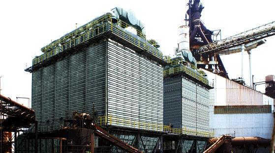 乾式大型集じん装置の写真