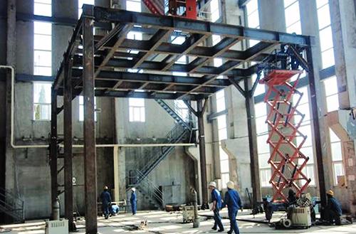 架台・歩廊他、鋼構造物の写真